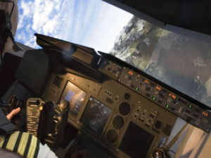 View from inside a high fidelity simulator