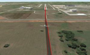 Cessna Citation encountering wake of A300